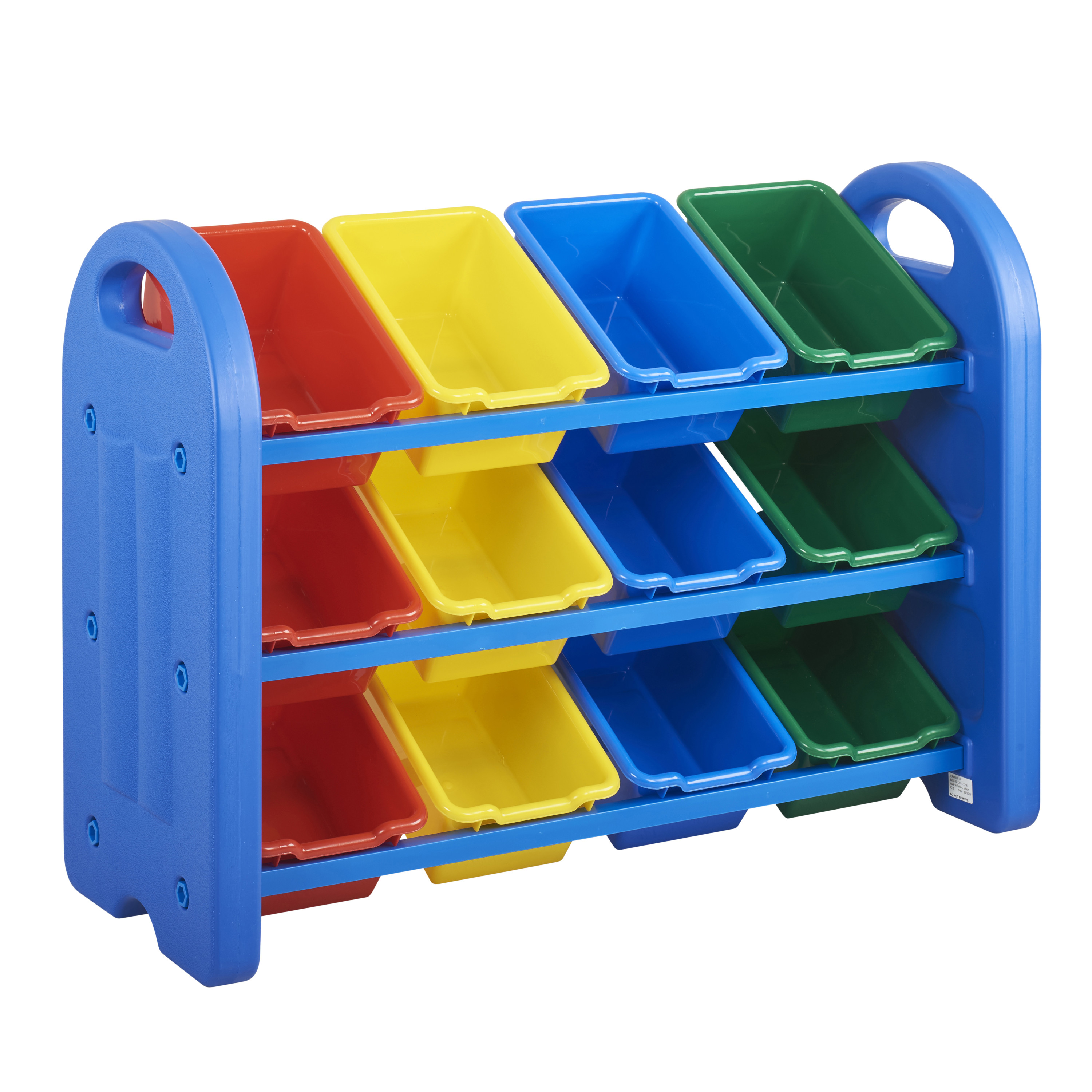 3-Tier Storage Organizer with Assorted Bins - Blue