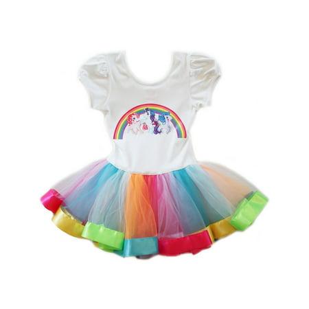 Wenchoice Girls White Multi My Little Pony Rainbow Ballet - My Little Pony Tutu