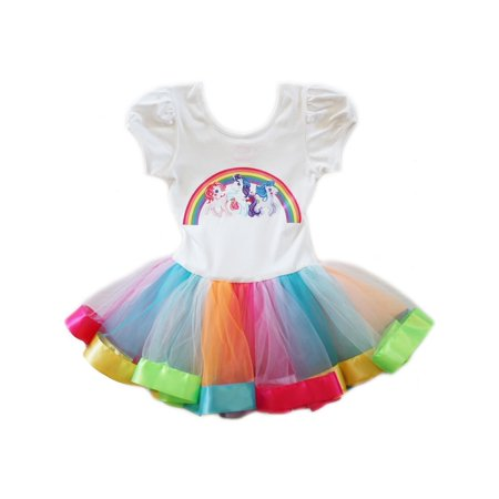 Wenchoice Girls White Multi My Little Pony Rainbow Ballet Dress