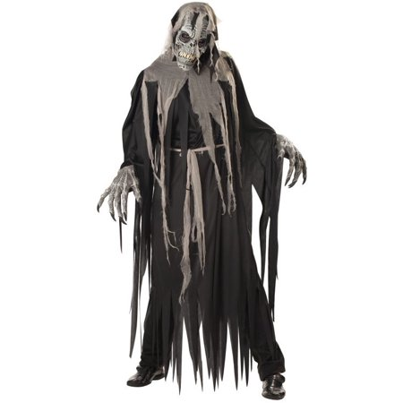 California Costumes Mens Ghost Skeleton Grim Reaper Halloween Costume M - Mens Grim Reaper Halloween Costume