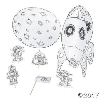 IN-13756602 Color Your Own 3D Rocket Ship Playset by Oriental Trading Company