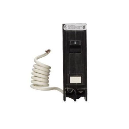 Eaton GFTCB215 Plug-On Mount Type GFTCB Ground Fault Circuit Breaker 2-Pole 15 Amp 120/240 Volt (Ground Fault Breaker)