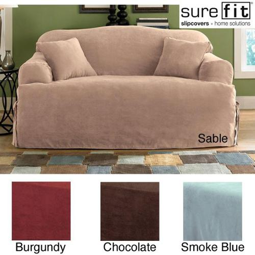 Sure Fit Soft Suede T Cushion Sofa Slipcover Walmart