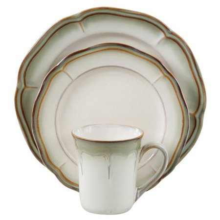 Better homes and gardens simply fluted 16pc dinnerware set dillweed for Better homes and gardens dinnerware