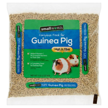(2 Pack) Small World Complete Feed for Guinea Pigs, 5 lbs. - Lixit Guinea Pig