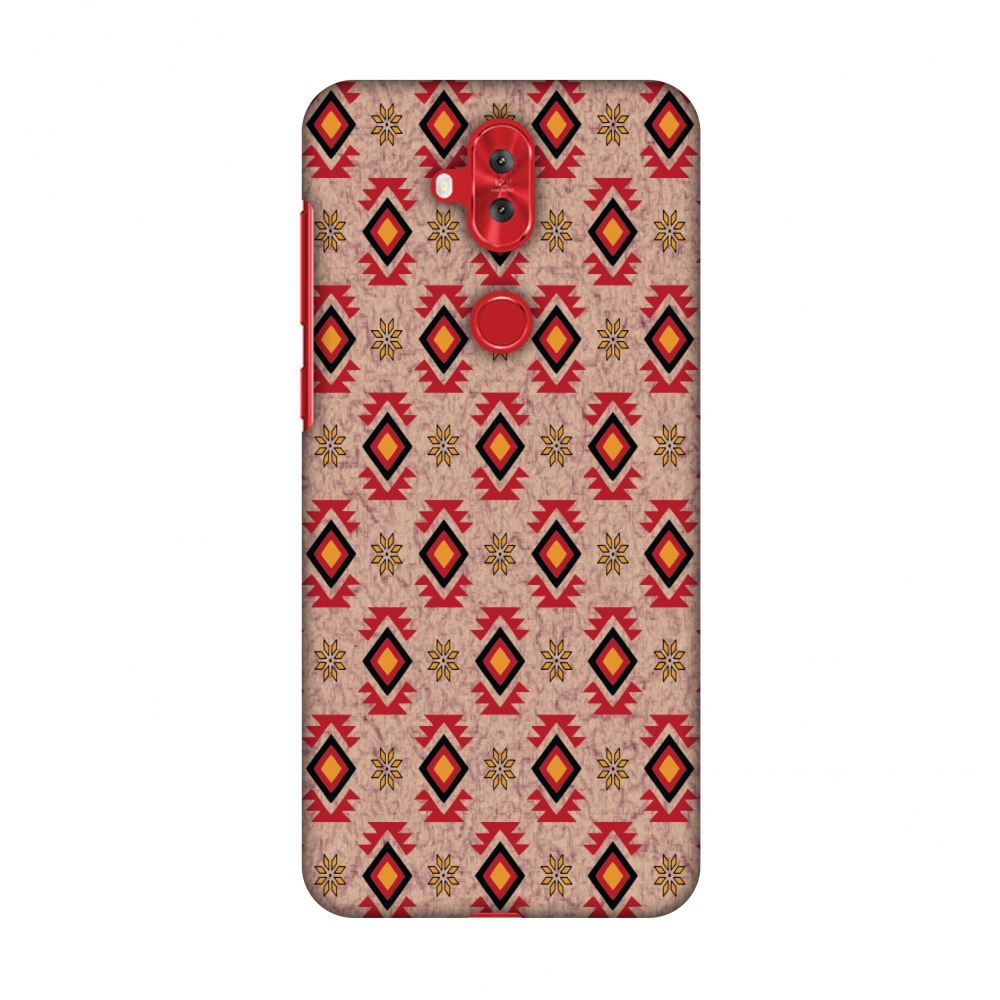 Asus Zenfone 5 Lite ZC600KL Case, Premium Slim Fit Handcrafted Printed Designer Hard Snap On Shell Case Back Cover for Asus Zenfone 5 Lite ZC600KL - Bright Red And Sunflower Yellow