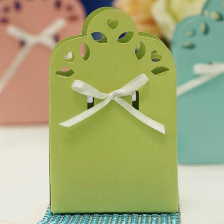 Efavormart 100 Cute Wedding Gift Favor Boxes with Ribbon for Gift Candy Treat Cupcake Packing Box Party Favors - 11 colors](Color Candy)