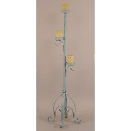 Coast Lamp Mfg. Iron Plain Pedestal Candle Stand