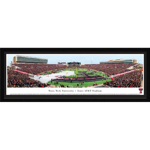 Blakeway Worldwide Panoramas, Inc NCAA Texas Tech University by Christopher Gjevre Framed Photographic Print