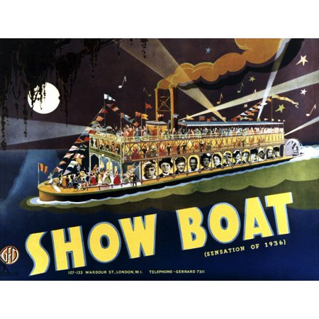 Show Boat Bottom From Left Irene Dunne Allan Jones Charles Winninger Paul Robeson Helen Morgan Helen Westley Donald Cook Queenie Smith Sammy White