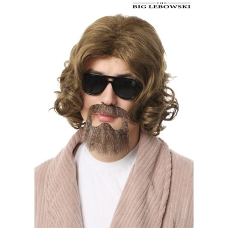 Big Lebowski Adult The Dude Wig and Beard (Rockin' Dude Adult Costumes Wig)