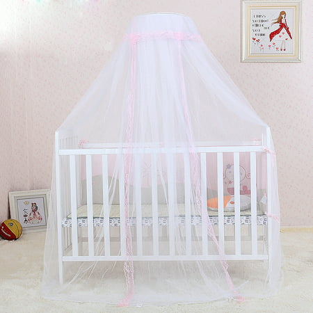 Mosquito Net, Outgeek Romantic Breathable Baby Dome Bed Canopy Netting for Baby Children Toddler Bedroom Nursery (Pink)