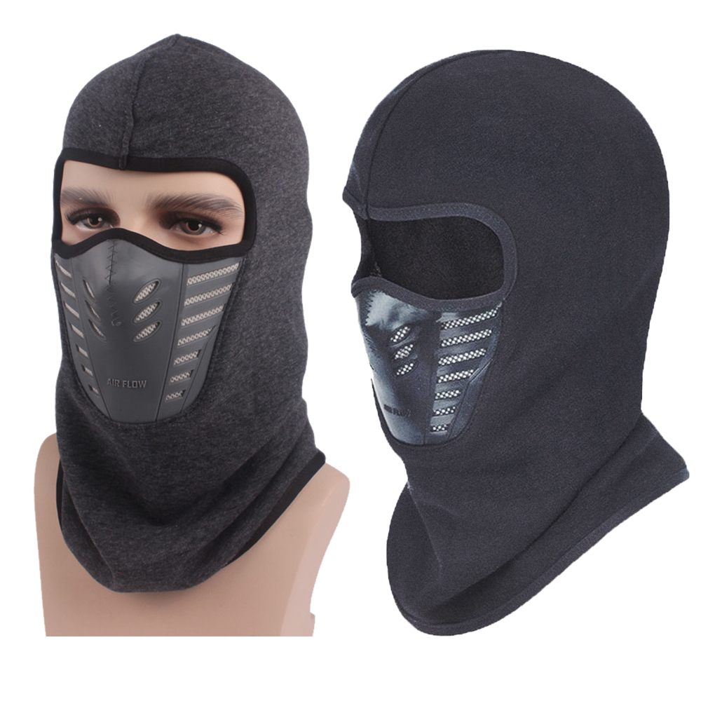Unisex downy Fashion balaclava Windproof cold-proof Bike Cycling Motorcycle Accessories Face Mask cold weather Hat Neck Helmet Outdoor Sport Ski Paintball Fishing Cap High Quality Black