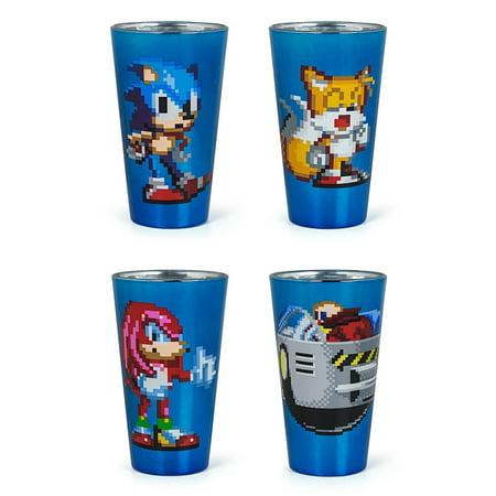 Sonic The Hedgehog Pixelated Pint Glass Set of - Pixelated Glasses