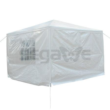 ZENSTYLE 10' x 10' Outdoor Canopy Party Wedding Tent Gazebo Pavilion w/4 Side Walls White