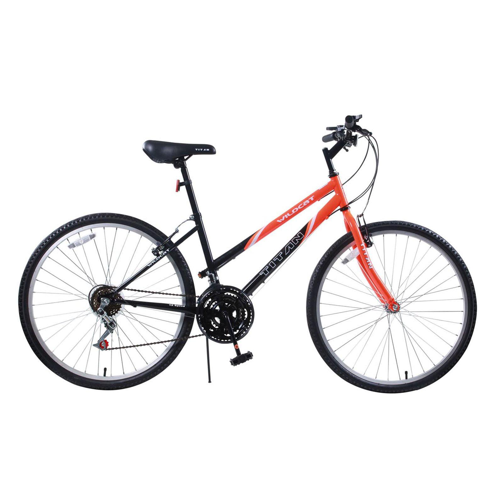 Titan Wildcat Women's 12-Speed Hardtail Mountain Bike, Orange/Black