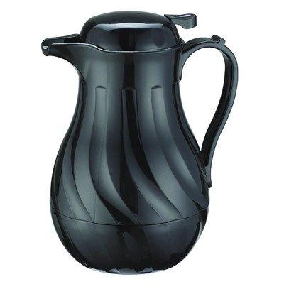 Update International Swirl Push-Button Top High Impact Plastic Coffee Carafe Black, 20 oz. | 1/Each