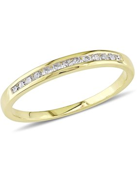 1/8 Carat T.W. Diamond 10kt Yellow Gold Semi-Eternity Wedding Band