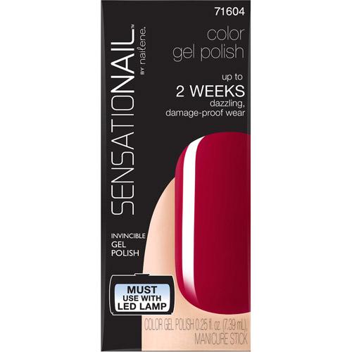 SensatioNail Color Gel Polish, 71604 Juicy Sangria, 0.25 fl oz