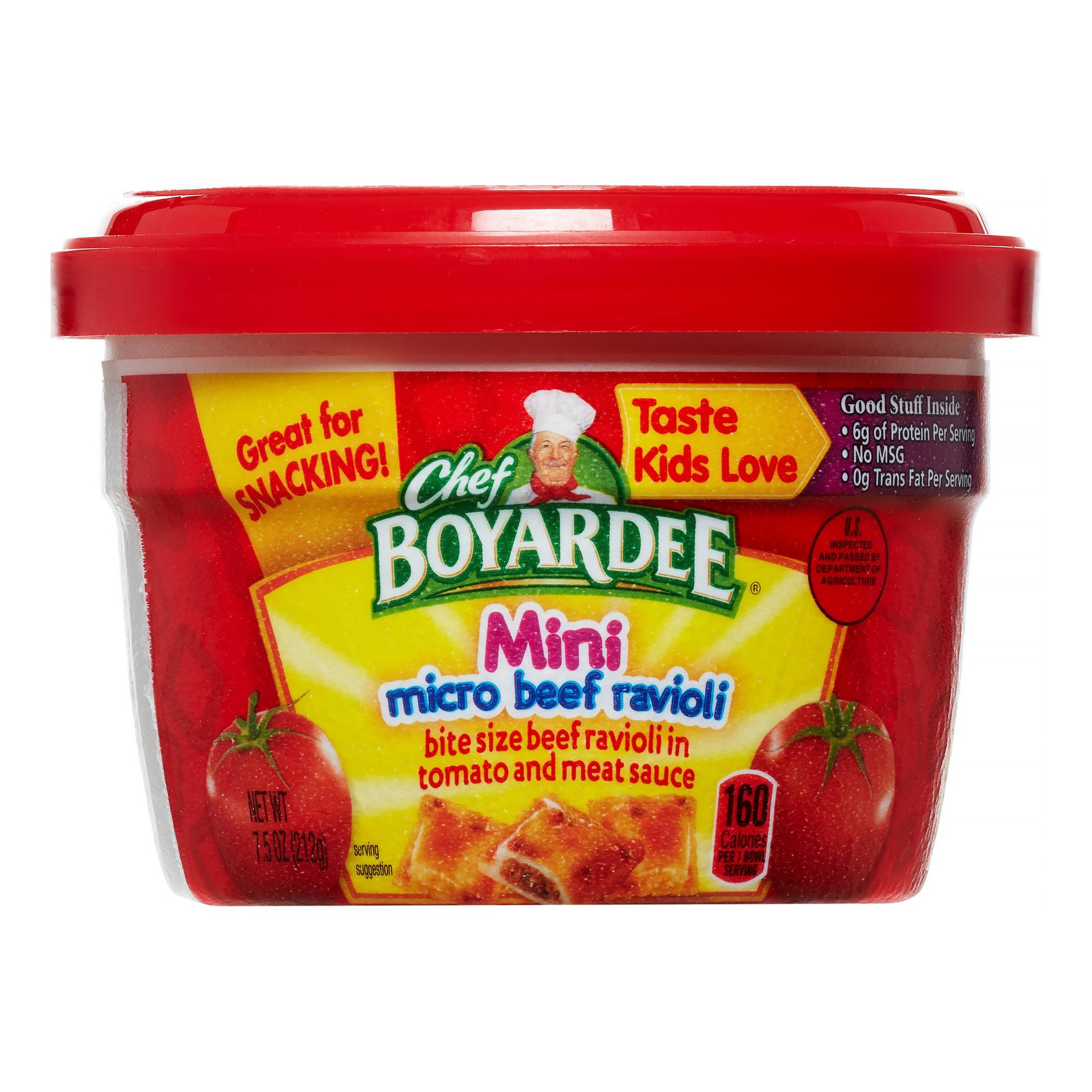 (8 Pack) Chef Boyardee Mini Micro Beef Ravioli, 7.5 oz