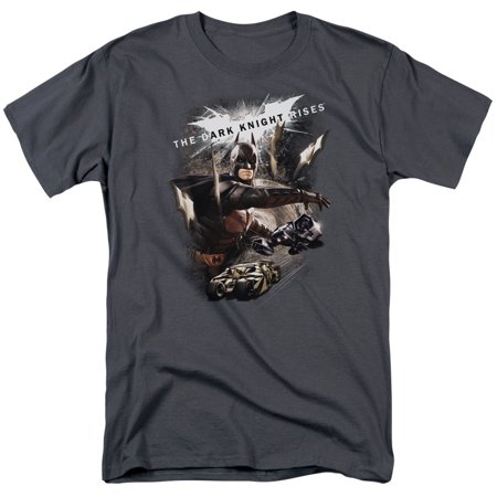 DARK KNIGHT RISES/IMAGINE THE FIRE - S/S ADULT 18/1 - CHARCOAL - LG