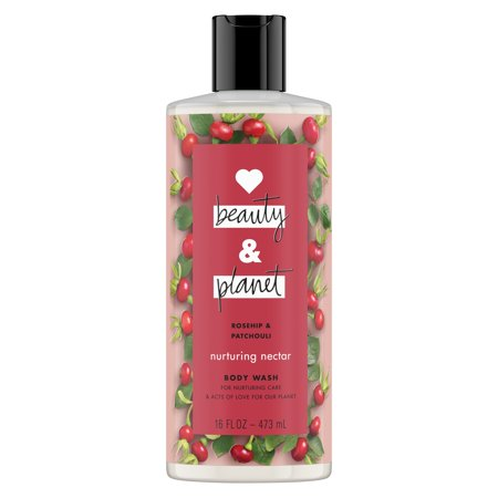 Love Beauty And Planet Nurturing Nectar Body Wash Rosehip & Patchouli 16 oz