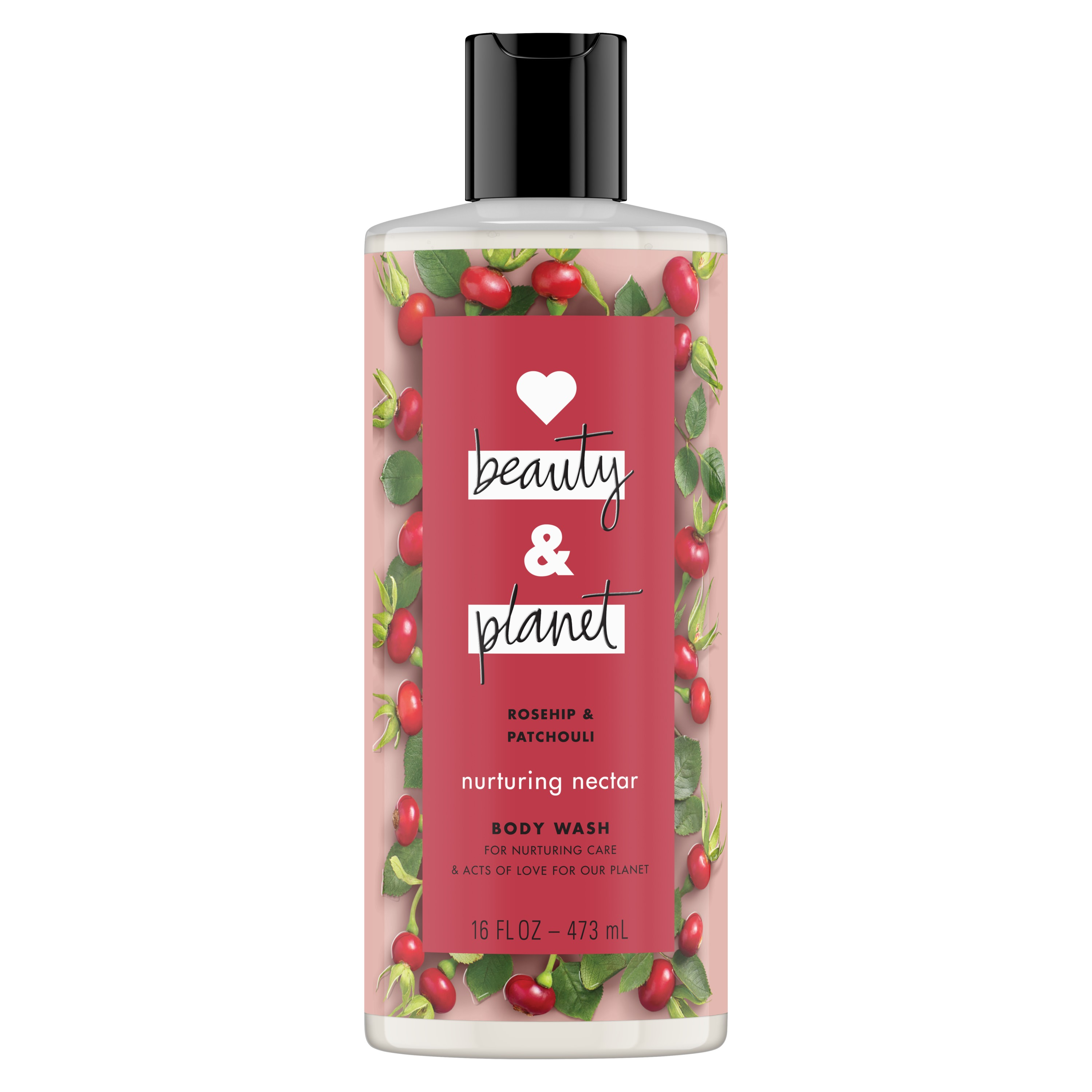 Love Beauty And Planet Body Wash Rosehip & Patchouli, for nurturing care 16 oz