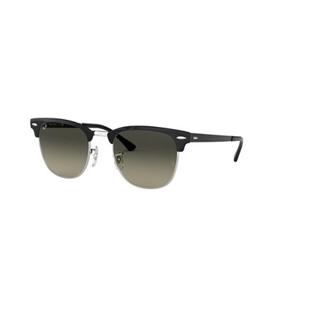 Ray-Ban RB3716 CLUBMASTER METAL 900471 51M Silver Top Black/Light Grey Gradient Dark Grey Sunglasses For Men For Women