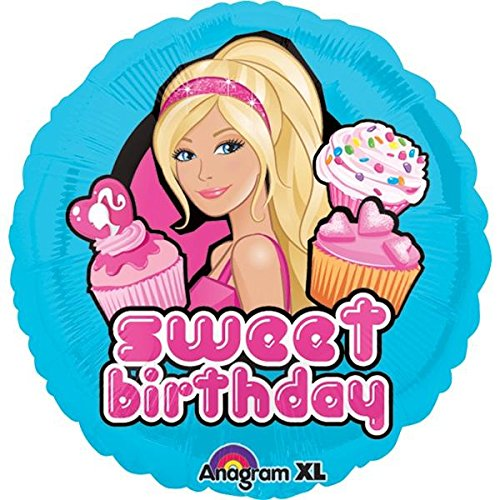 "18"" Barbie Sweet Birthday Mylar Balloon, By AnagramMD"