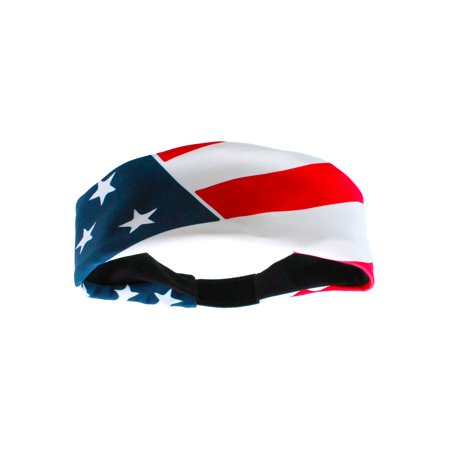 Patriotic USA American Flag Headband with Stars and Stripes (Red/White/Blue, One Size) - Red/White/Blue,One Size (Head Band Usa)
