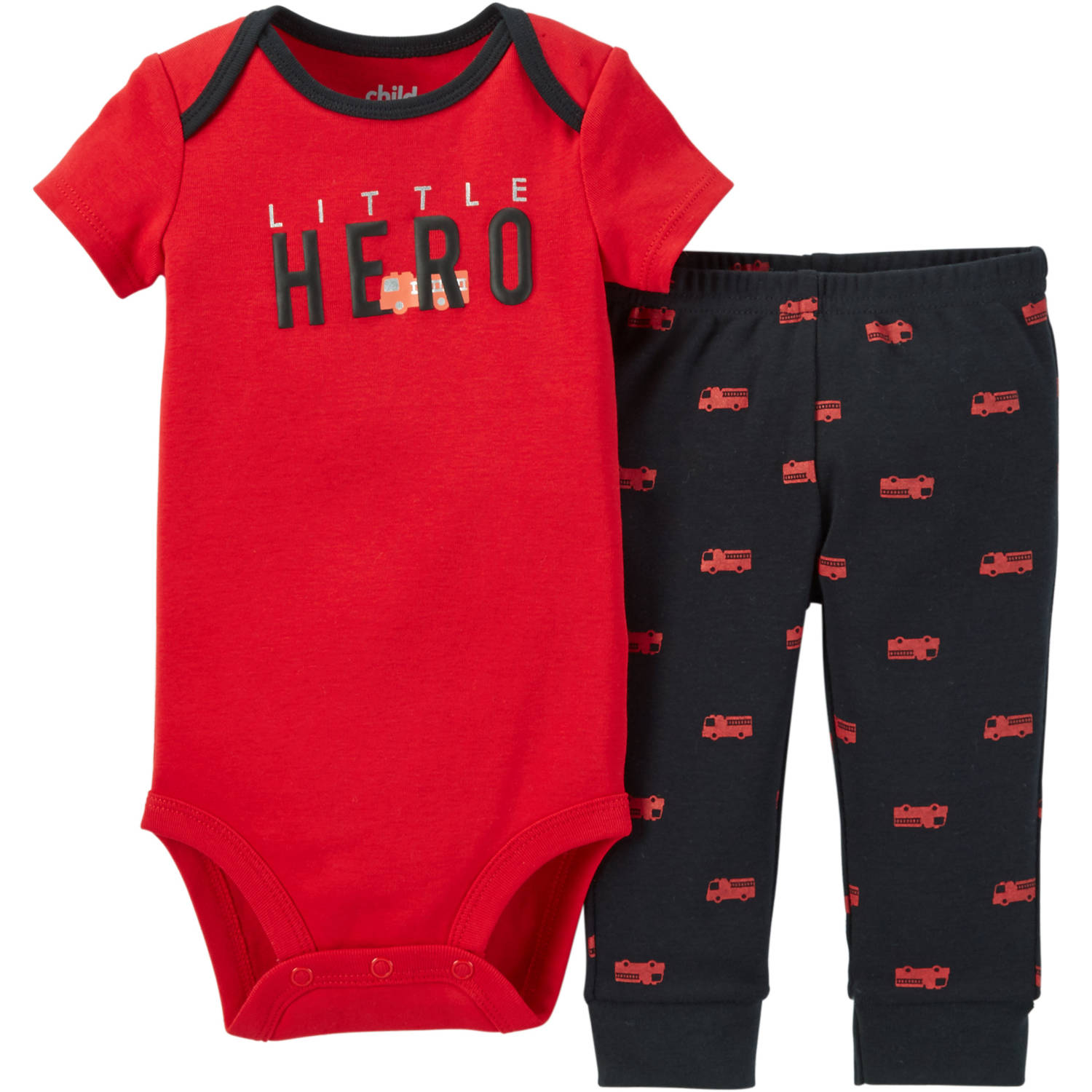 Child Of Mine Made By Carter's Newborn Baby Boy Bodysuit & Pant Outfit Set 2 Pcs