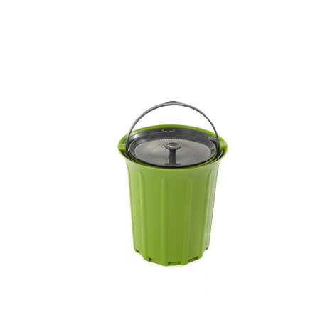 Full Circle Breeze Odor-Free Countertop Compost Collector, Green Slate