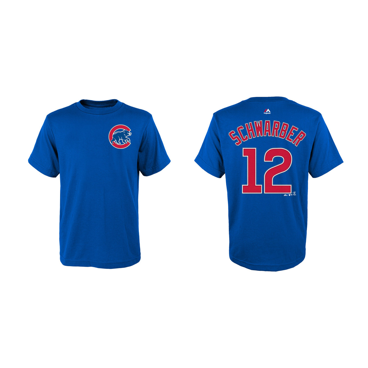 Chicago Cubs Youth Kyle Schwarber Name and Number T-Shirt - Royal #12