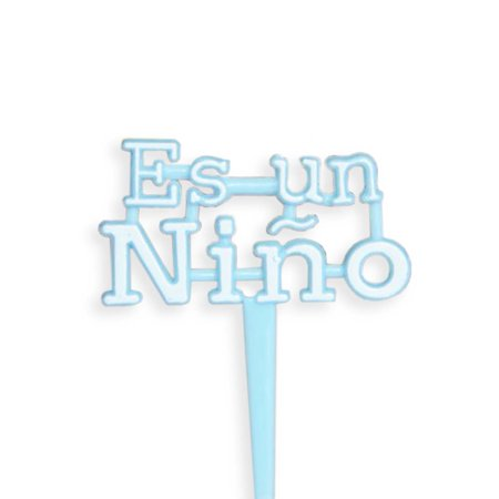 Blue Es Un Nino Cupcake Picks for Baby Shower Its a boy Set of - Pastel Baby Shower Niño
