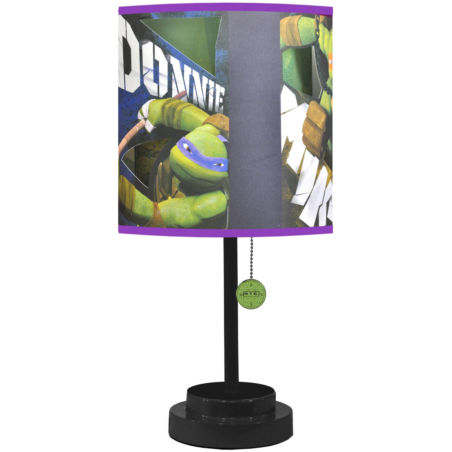 "Nickelodeon Ninja Turtles Table Lamp with Bonus Die-Cut Features and Bulb- 18""H"