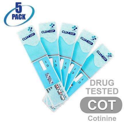 MiCare [5pk] - 1-Panel Dip Card Instant Urine Drug Test - Cotinine (COT)