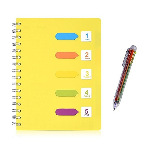 Egemwy Lined Notebook Multicolor Pen 240 Pages A5 Planner