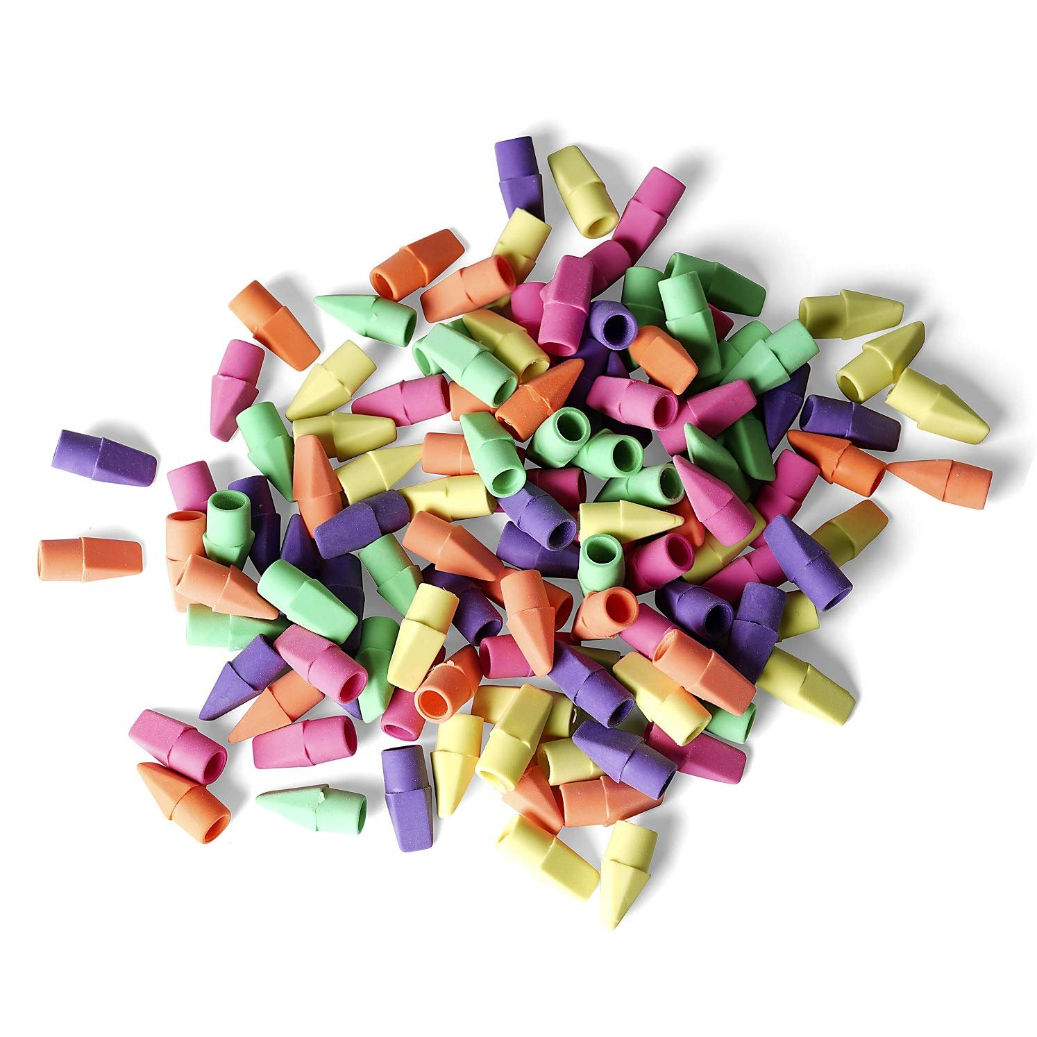 Pencil Top Eraser Toppers Cap Eraser Latex Free Assorted Eraser Toppers 120 Pack