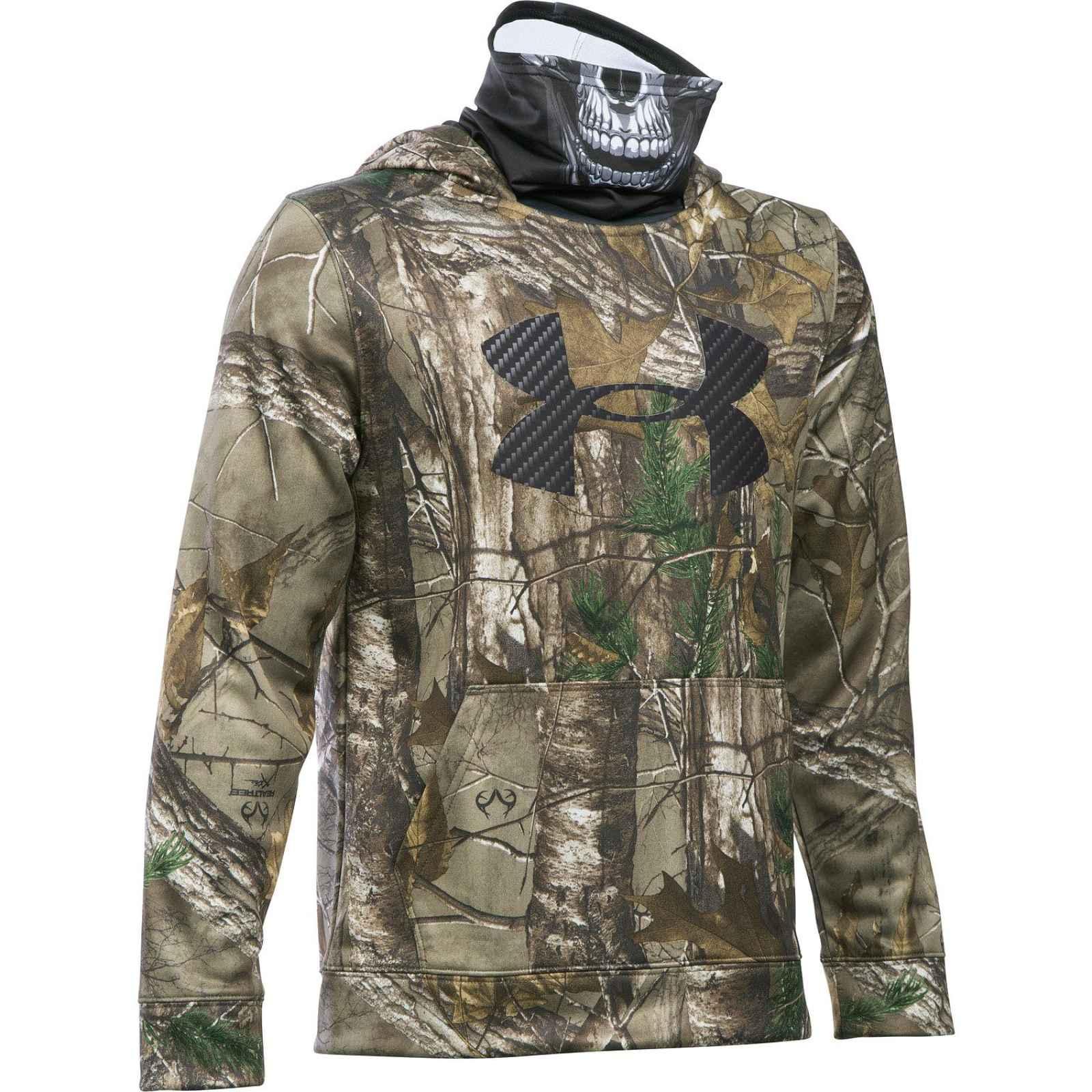 Under Armour 1285122 Boys' skull mask hooded jacket RXT