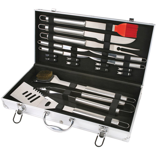 Chefs Basics Select 18-Piece Stainless Steel Barbeque Set
