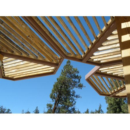 Canvas Print Wooden Roof Architecture Angle Geometrical Angles Stretched Canvas 10 x (Angle Roof)