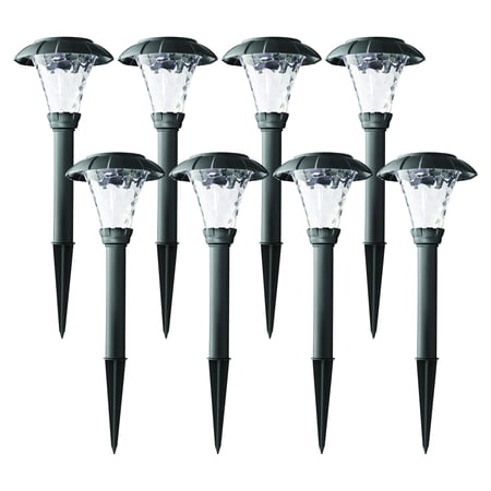Mainstays Solar Stanford Pathway Light Set-8PK (Best Solar Landscape Lights Consumer Reports)