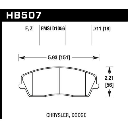 Hawk Performance HB507Z.711 Disc Brake Pad Fits 300