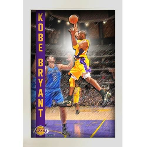 Kobe Bryant Los Angeles Lakers Pop Out Framed Collage