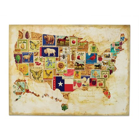 DEMDACO American Backroads US Map Graphic Art Walmartcom - Us map poster walmart