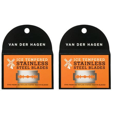 Van Der Hagen Stainless Steel Double Edge Razor Blades 5 Blades (Pack of 2) (Liste Der Stile Der Mode)