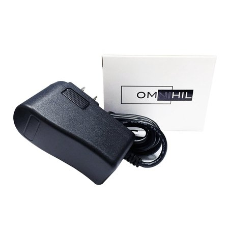 [8 FT]OMNIHIL AC/DC Power Adapter 12V 1A (1000mA) 5.5x2.5mm Compatible with Numark PT01 Scratch Portable