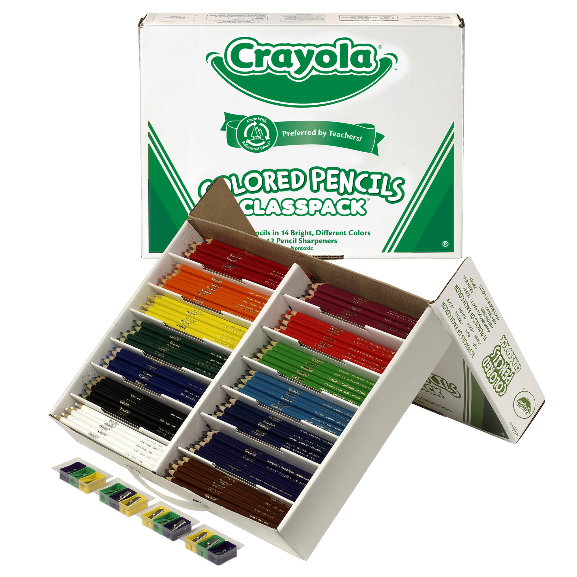 Crayola Colored Pencil Classpack 14 Colors 462 Count Walmart Com