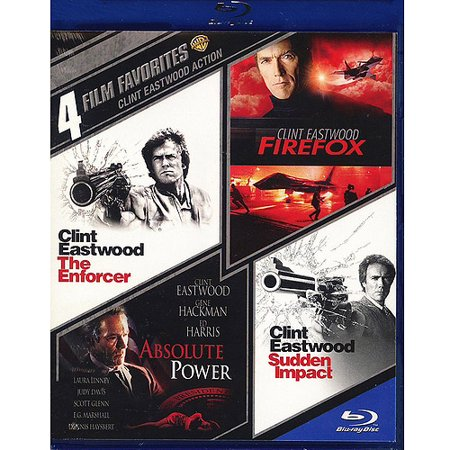 4 Film Favorites  Clint Eastwood   Firefox   Absolute Power   The Enforcer   Sudden Impact  Blu Ray   Widescreen