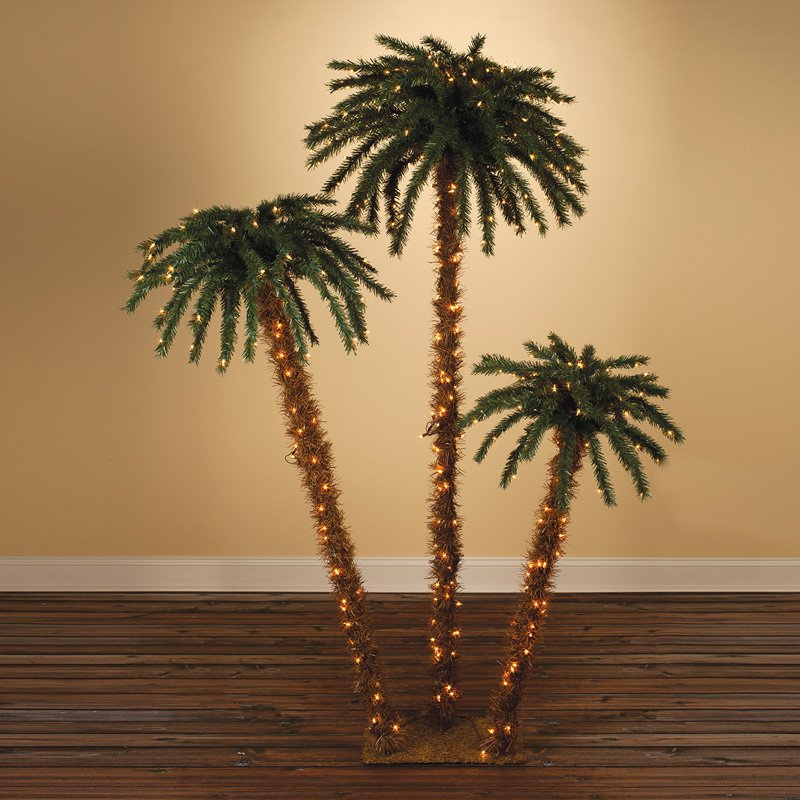 Pre-lit Palm Tree - Set of 3 by Sterling Tree Company
